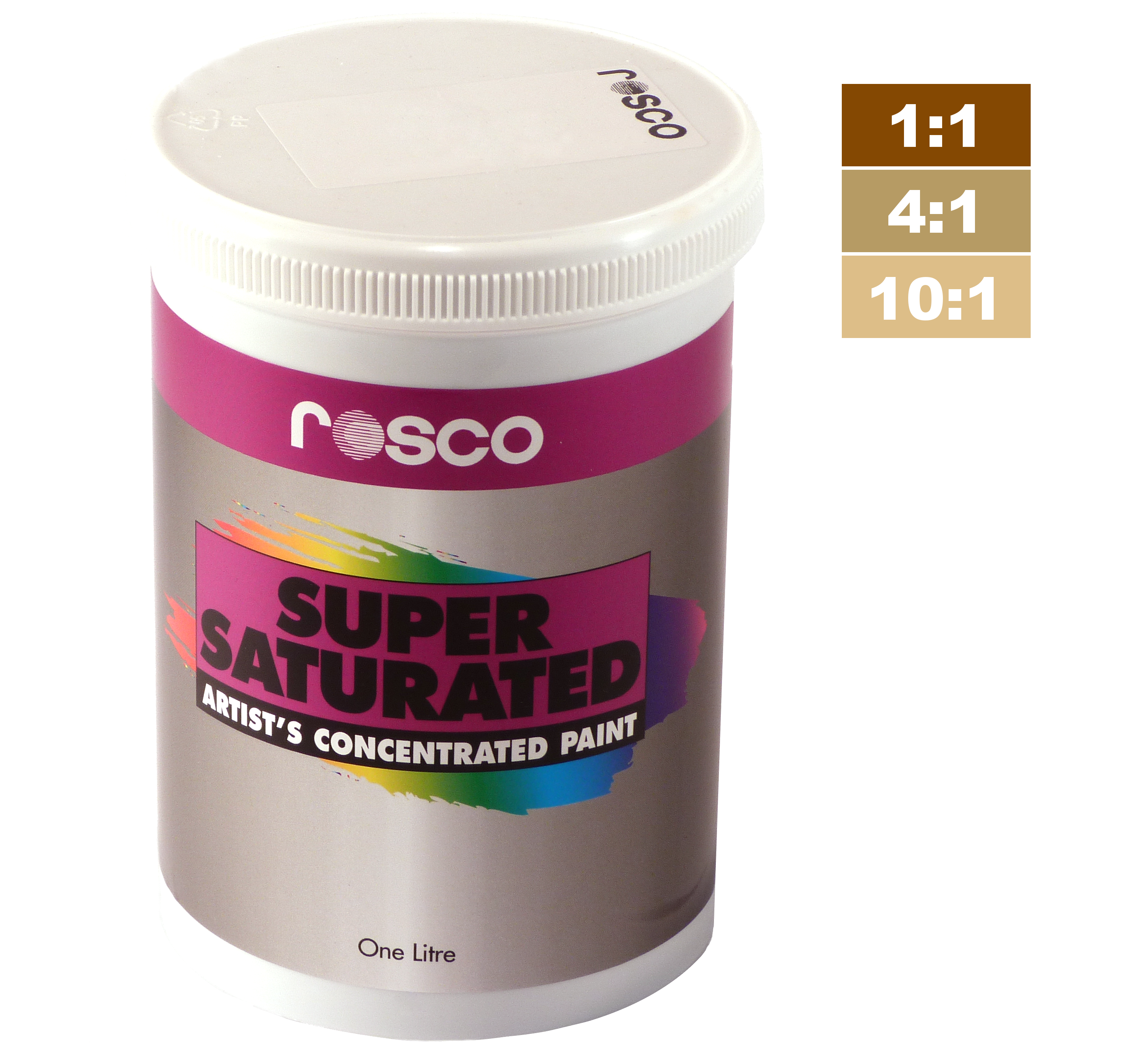 An image of Rosco Supersaturated Paint Raw Sienna 5L