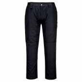 Front of Portwest CD884 Work Trousers in Black