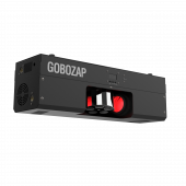CHAUVET DJ Gobozap with light effect on at front right angle