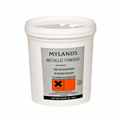 Simply add Mylands Metallic Powder Rich Gold No.1 (500g) to glazes and shellac polishes for a bright, metallic finish