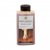 Mylands French Polish 500ml produces a warm and dark transparent coating